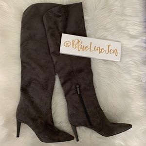 Zanna Faux-Suede Over The Knee Boots NWOT